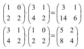 Prodotto Tra Matrici Quadrate.Math Physics Operazioni Tra Matrici