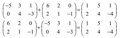 Somma Tra Matrici.Math Physics Operazioni Tra Matrici